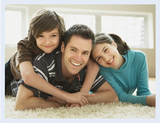 Photo of father and children