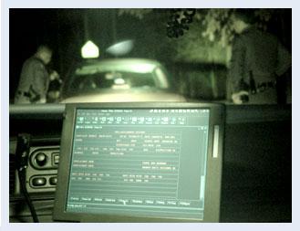 photo of police dashboard